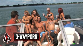 3-Way Porn – Big Boat Group Sex Party – Part 2