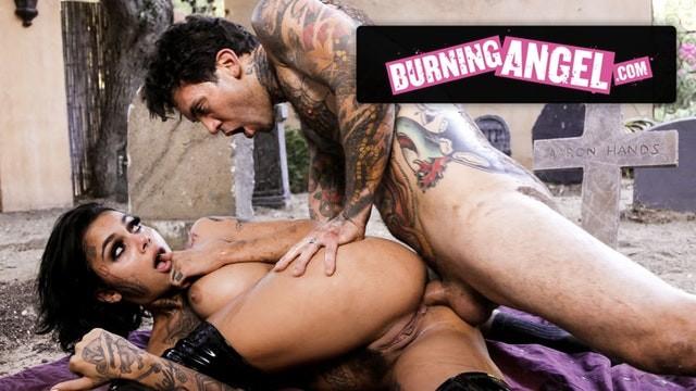 BurningAngel Genevieve's Ass is Taken in Public Graveyard