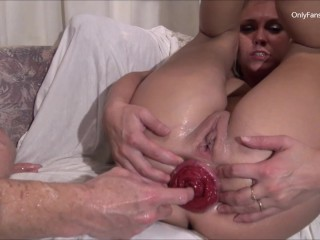 anal Fisting Huge Belly Bulge and more Wreckage of the asshole