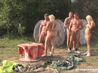 Pantball orgy at GroupSexGames Helena Sweet, Honey Winter