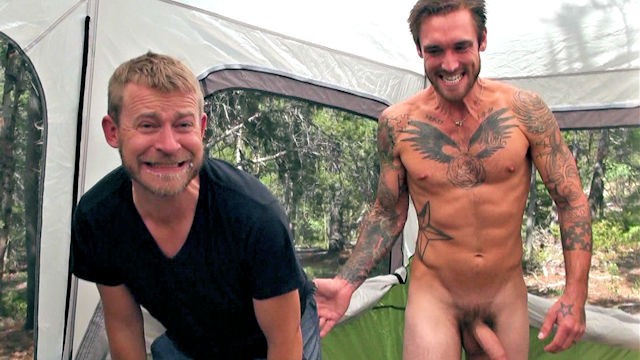 Men talked into having gay sex Do i still have cum on my face - camping trip leads to cum swallowing