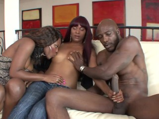Horny Ebony Teens Fucked Hard Ther Step Dads BBC and Get Facaled