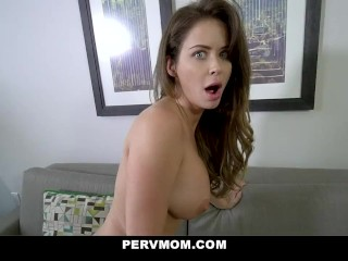PervMom – Cheating Stepmom With Big Tits Deepthroats Her Stepson