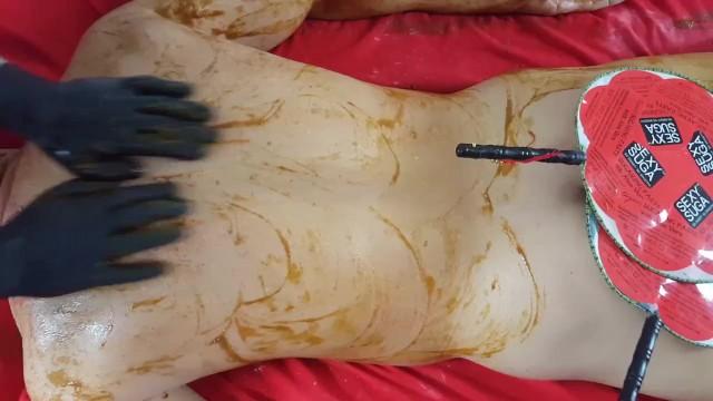 Albas pineapple enzyme facial mask - Esthetician trainning / pumkin enzyme body massage spa treatment