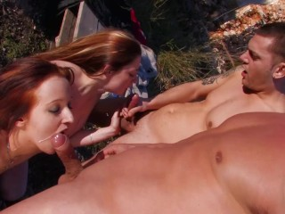 Horny Teens Fucked Hard Anal and Get Double Penetrated by Monster Cock