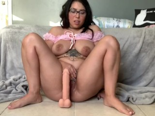 Squirting all over my dildo