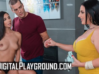 Dgtal Playground Two bg tt aants share bg cock Angela White, Gianna Dior, Ramon Nomar