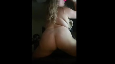 Bunny's horny - fat babe sucks and fucks with a banging ass