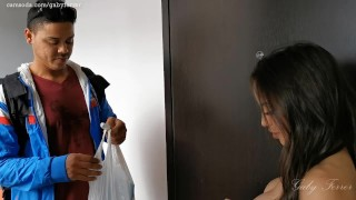 Two bored girls prank delivery guys for fun