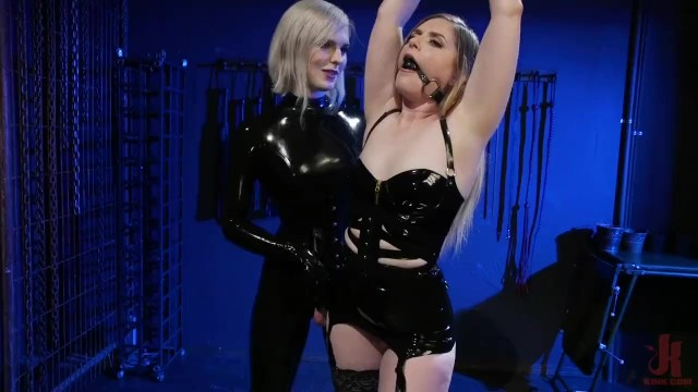 First time anal with a ts - Greedy latex slut: dresden gives up her holes to ella hollywood