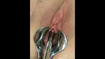 Female Urethral Stretching Sub female peehole stretching & pissing