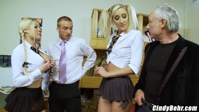 Sexy babe college girl barrie - Naughty school girls end up in detention and punished with 2 big rods