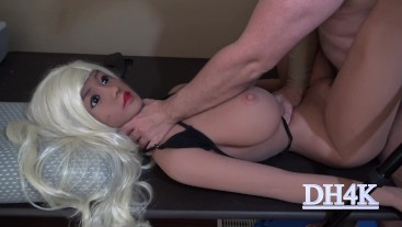 Blond doll. Ass fucked. Stomach punches. Slapping. Stand on while cumming.