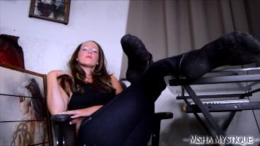 Foot Freak: POV Sock Worship JOI - foot domination sock fetish femdom pov