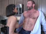 Feminist MILF Drain's Muscle Guy's Cock and Squeezes His Balls