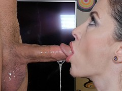 Slutty milf no hands blowjob and throbbing. Oral Creampie Wet Kelly