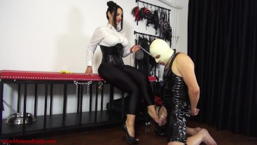 Enslaved by My heels: Mistress Ezada humiliating Her slave