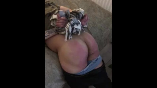 Paddle anal Caned, paddled and belted ass till it bruises