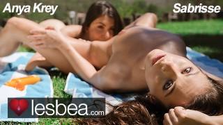 Lesbea Straight teen Anya Krey seduced by young lesbian Sabrisse