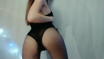 hot slut seduces you in a sexy bodysuit