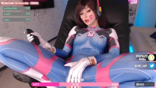D.Va COSPLAY babe blowjob cute fuck machine