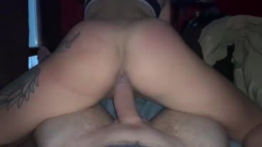 Ass smacking and reverse cowgirl on big dick