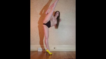Amateur Dance & Strip from booty shorts to full nude.(high heels included)