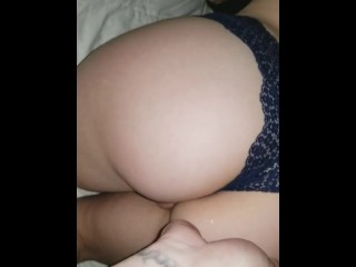Quickie from behind with cute little gf