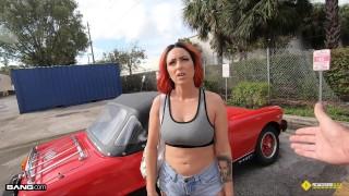Roadside – Tattoo Redhead Fucks To Get Her Classic Car Fixed