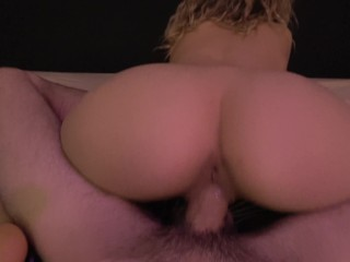 Teen Sucking and Riding a Big Dick until he Cums Inside Me! By Mimi Boom