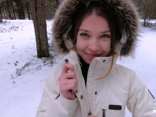 love quck sex outdoors even n wnter Cum on my pretty face POV