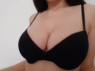 Teen Puts Lotion On Her Big Tits