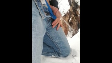 Peeing in the snow