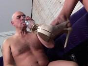 Pathetic piss catcher does his job ft/ Mistress Lucy Khan