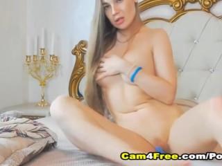 Beautful Blonde Pleasures Her Pussy