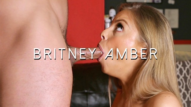 Britney Amber receives throbbing oral creampie - cum in mouth