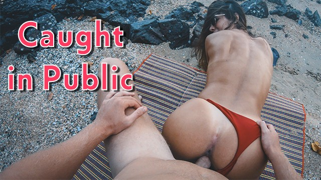 Beach sex galour Hot fitness girl has passionate sex on a public beach get caught short