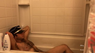 Pilot In Bathtub Licks His Armpits & Curses At Creep POV