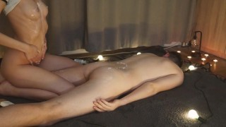 Amateur Boby To Body Massage with Handjob
