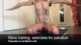 Filmes pornôs - De Escravos: Treino Com Tortura Nos Mamilos - Braçadeiras Com Pesos