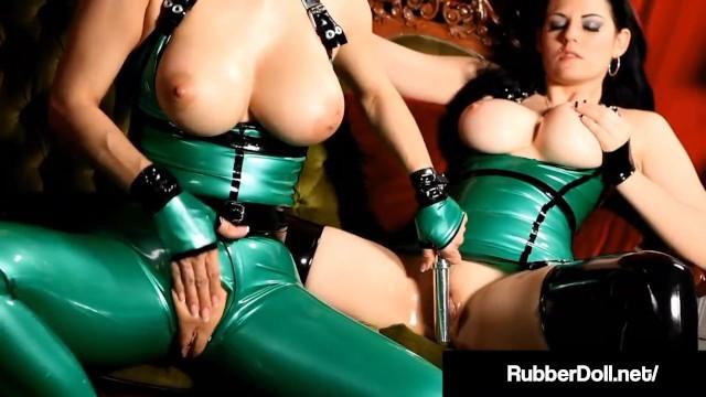 Shiny Sex Deviants RubberDoll & Shae Fatale Spank & Slap!