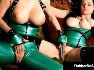 Shiny Sex Deviants RubberDoll & Shae Fatale Spank & Slap RubberDoll