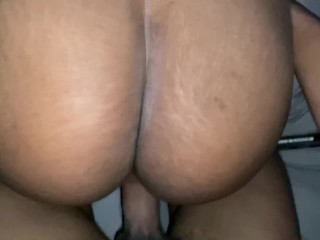 Juice thick booty dark skinned receiving Shaft ( BACKSHOTS POV)