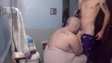 shaved head girl razor shave