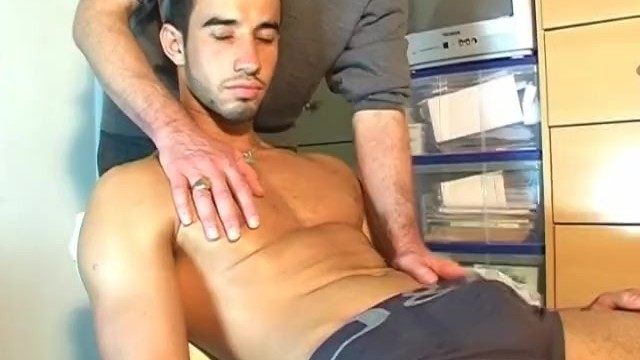 Asian gay guy porn pics - Young delivery guy gets massaged his huge dick in porn in spite of him