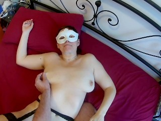 Happy mature fucks receives cum in mouth and swallows