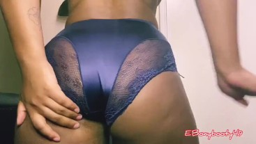 New satin lace panty farts