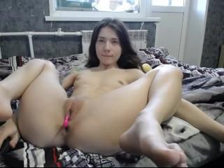 Sesch Vibrator in Pussy Dick in Ass