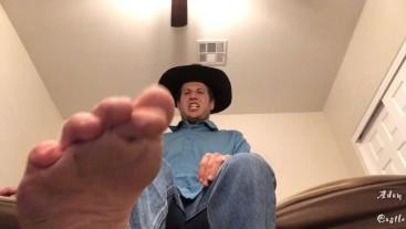 Cowboy POV Gay Foot Worship & Humiliation
