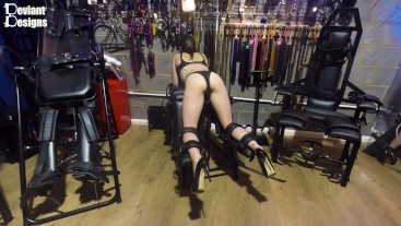 Cute Butt on Display as K is Strapped to the Spanking Bench